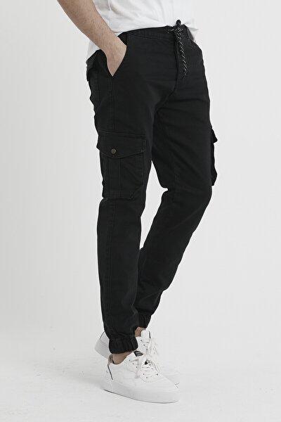 Erkek Kargo Pantolon Kot Paçası Lastikli
