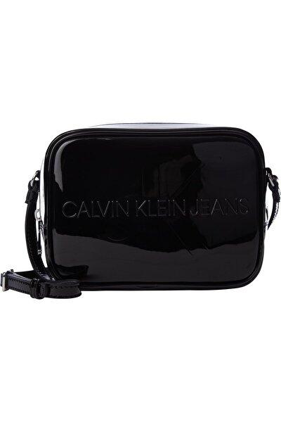 Kadın Siyah Camera Bag Patent Omuz Çantası