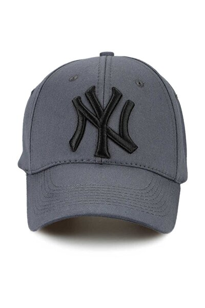 Unisex Gri Ny New York Yankees Şapka