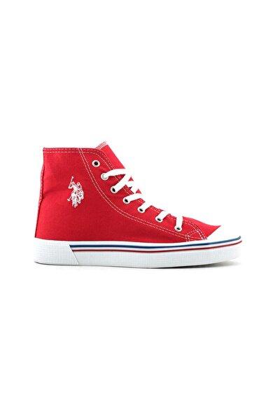 Kadın Kırmızı Bağcıkı Sneaker Ayakkabı 100910640