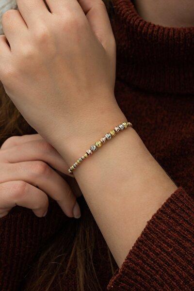 Kadın Gümüş 925 Ayar Renkli Dorika Bileklik  Bileklik