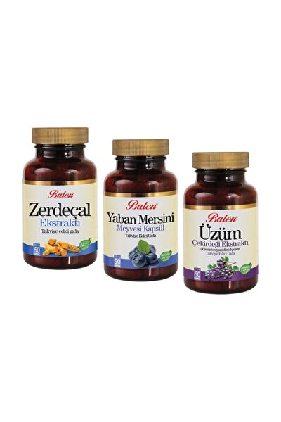 Antioksidan 3lü Zerdeçal, Yaban Mersini Ve Üzüm Çekirdeği Kapsül