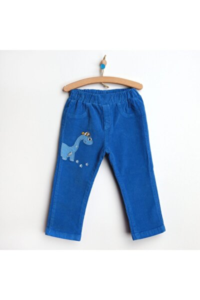 Erkek Bebek Kadife Dinazor Kadife Reçme  Pantolon
