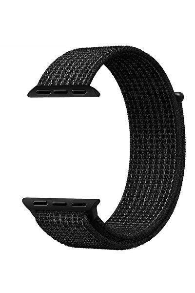 Apple Watch Dokuma Kordon Kayış 7 - 6 - Se - 5 - 4 - 3 - 2 - 1 38mm 40mm - Siyah