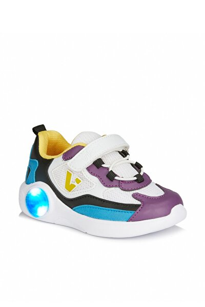 Yoda Kız Çocuk Beyaz/mor Spor Ayakkabı