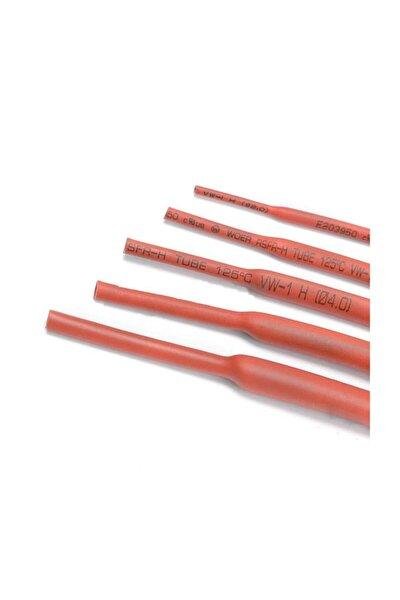 Polyolefin Isı Shrink Tüp 2:1 Daralan Makaron Boru Çap Ø6,0mm 10 X 1 Metre