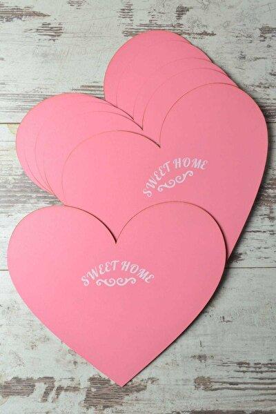 6'lı Sweet Home Kalp Ahşap Supla