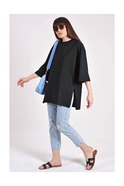 Kadın Siyah Oversize T-shirt