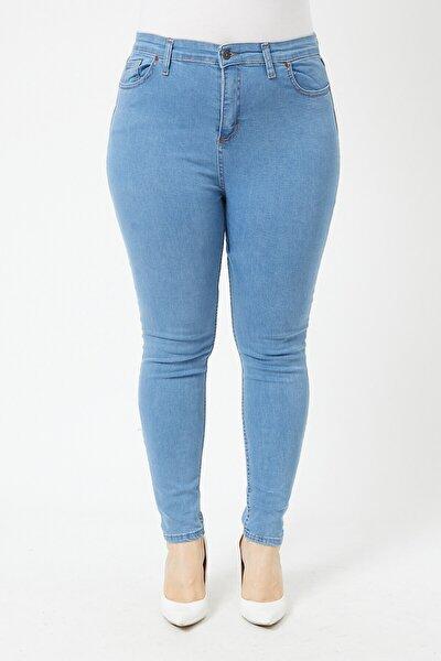 Kadın Büyük Beden Dar Paça Kot Pantolon
