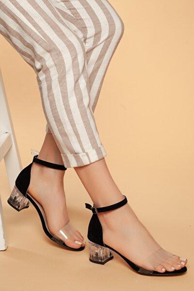 Günlük Kadın Şefaf Topuklu Ayakkabı D045