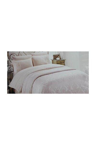 Çift Kişilik Dantelli Pike Takımı Yatak Örtüsü