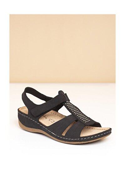 PC-2607 Siyah Kadın Sandalet