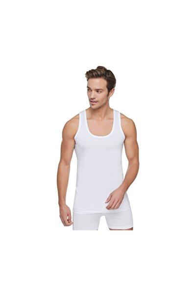 Erkek 12'li Paket Penye Atlet %100 Pamuklu (beyaz)