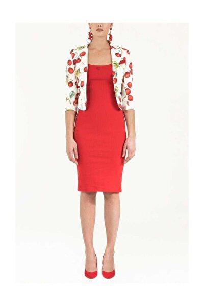 Kadın Askılı Dar Kesim Örme Elbise Kırmızı 91967 M18161091967111