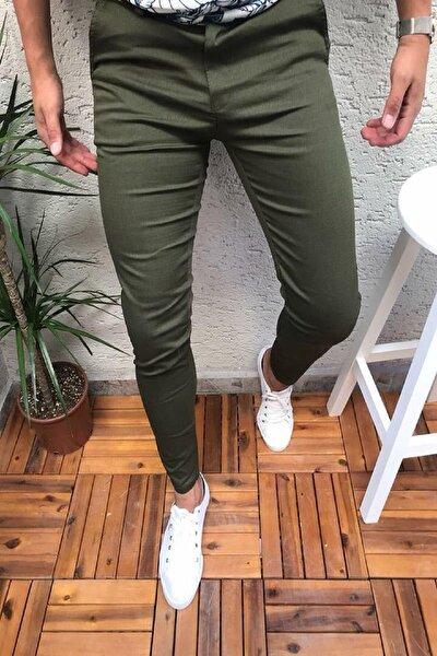 Zoom 108 Desenli Slim Fit Likralı Keten Pantolon