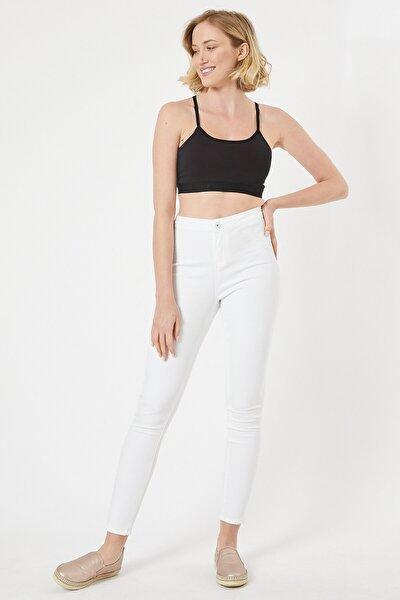 Beyaz Renk Kadın Tayt Pantolon