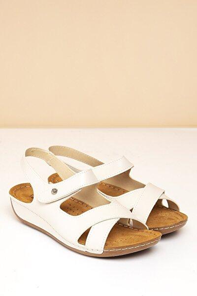 PC-6174 Bej Kadın Sandalet