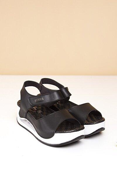 PC-1406 Siyah Kadın Sandalet
