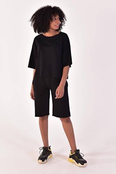 Kadın Siyah Basic Tişört P0315-1 - Y3 - F7 ADX-0000019653