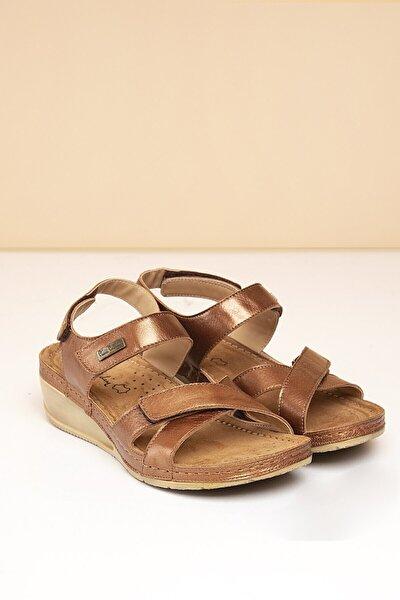 PC-1331 Bronz Kadın Sandalet