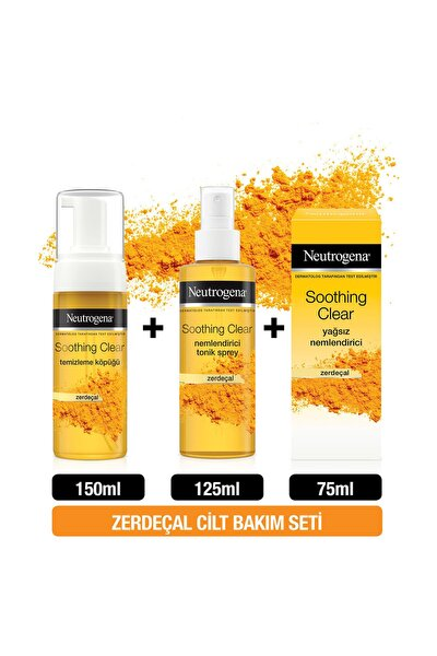 Soothing Clear Köpük 150 ml + Tonik 125 ml + Yağsız Nemlendirici 75 ml