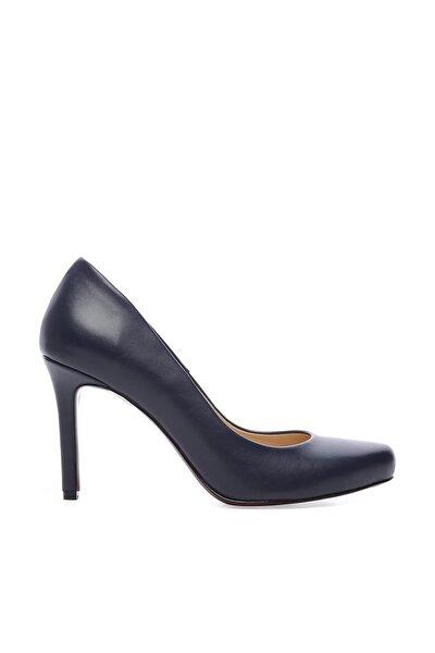 Lacivert Kadın Vegan Stiletto Ayakkabı 22 2069 BN AYK