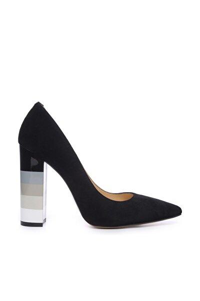 Siyah Kadın Vegan Stiletto Ayakkabı 22 894 BN AYK
