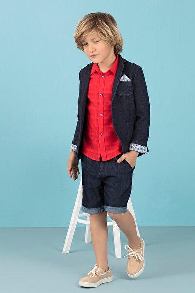 Mavi Triko Erkek Çocuk Ceket