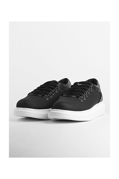 Petek Desenli Erkek Spor Ayakkabı - Xrm021 Bt Siyah