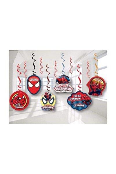 Örümcek Adam Spiderman Temalı 6 Lı Sarkıt Tavan Süsü