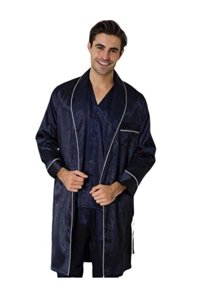 Effort Erkek Röpteşambırlı 5li Pijama Takımı Lacivert