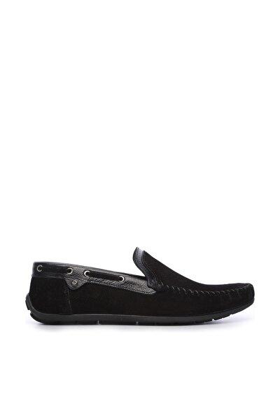Hakiki Deri Siyah Erkek Rok Ayakkabı 683 2003 ERK AYK Y19