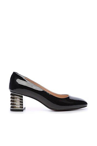 Siyah Kadın Vegan Klasik Topuklu Ayakkabı 720 2019 BN AYK Y19