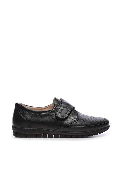 Hakiki Deri Siyah Kadın Comfort Ayakkabı 673 351 BN AYK Y19