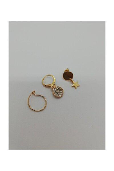 Kadın Gold Küpe Set 1