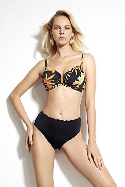 Çiçek Desenli Battal Toparlayıcı Telli Bikini