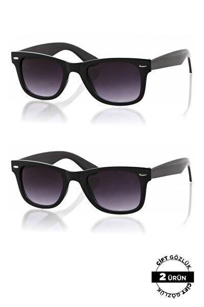 Unisex Güneş Siyah Gözlüğü 2'li Ürün