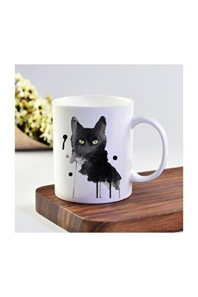 Kara Kedi Baskı Kupa Bardak