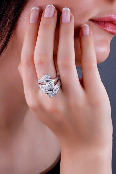 Kadın Birleşen El Model Gümüş Yüzük