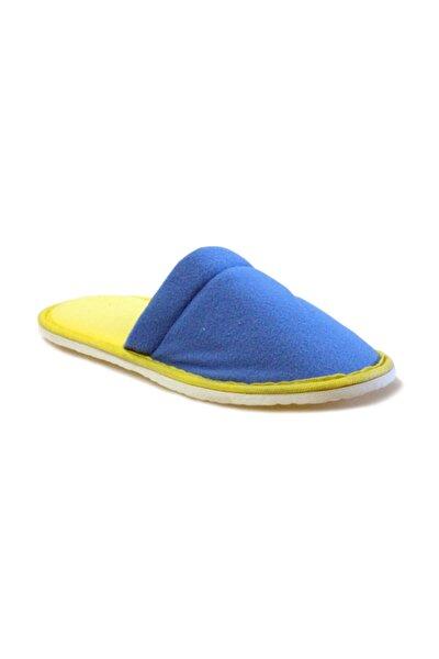 Yıkanabilir Ev Terliği - Mavi Sarı