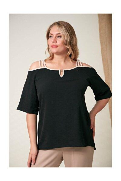 Kadın Bluz Askı Detaylı Siyah