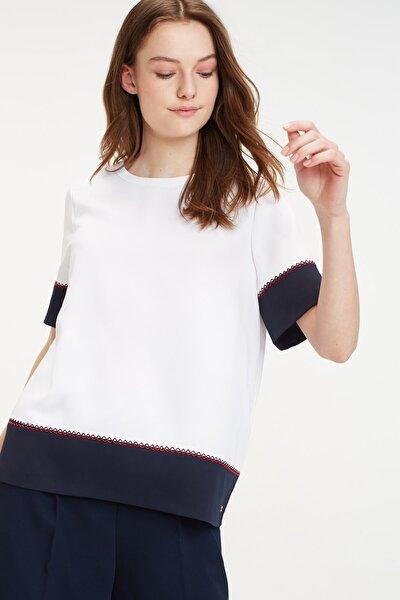 Kadın Beyaz Gömlek Florentına Top Ss WW0WW25314