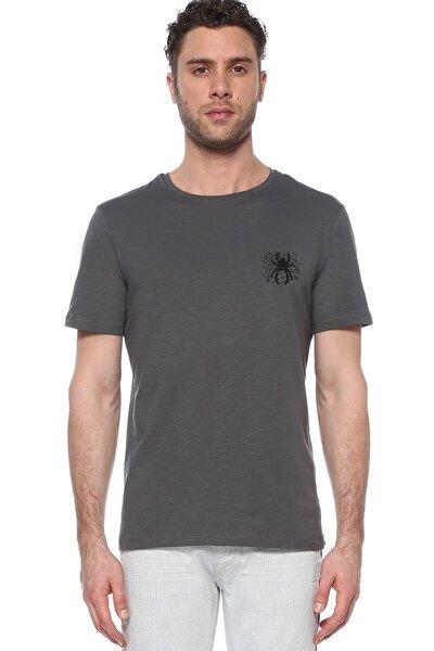 Erkek Slim Fit Antrasit Tshirt 1074823