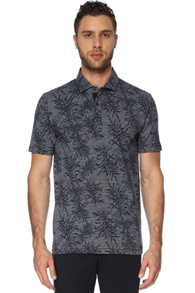 Erkek Jakarlı Polo Yaka Lacivert Tshirt 7003522