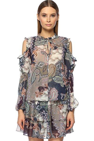 Kadın Basic Fit Mor Lacivert Bluz 1070917