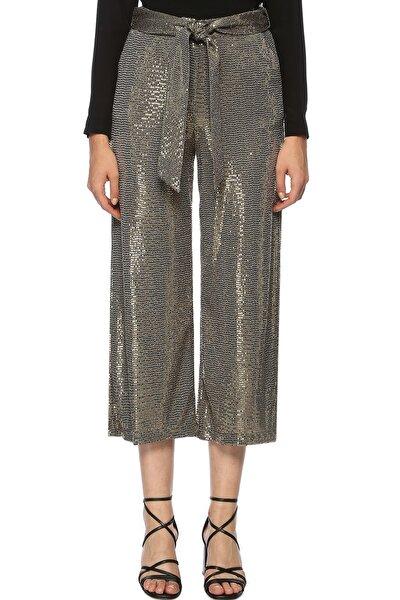 Kadın Bol Paça Altın Rengi Pantolon 1070745