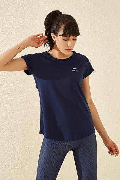 Arka Detay Indigo Kadın Tshirt T05BY-97101_1