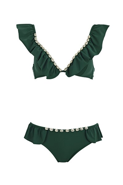 Volanlı Deniz Kabuklu Bikini Takım