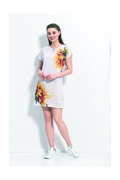 Kadın Kısa Kollu Ev Elbisesi Gecelik