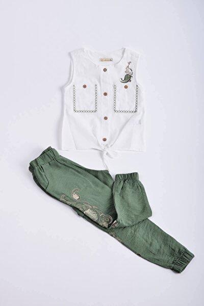 Kız Çocuk Pantolon Gömlek Takım